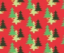 Fabric Freedom Camping - 4262 - Fir Trees on Orange - FF96-3 - Cotton Fabric